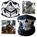 Winter 2016 Neck Warmer Mask  2 style air force Skull Tubular  Scary Mask Bandana Outdoor Motorcycle Multi function braga cuello