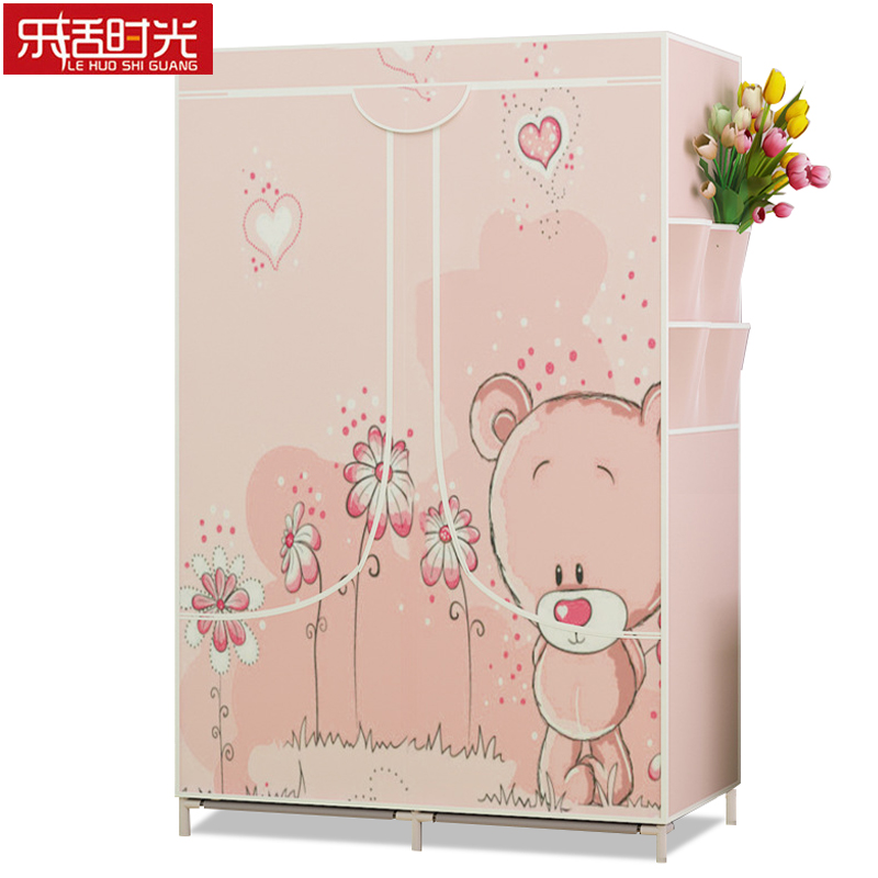 Simple Wardrobe Cotton Supplies Storage Cabinet Non-woven Fabric Clothing Closet Detachable Minimalist Bedroom Furniture