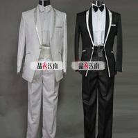 2017 new arrival men đảng dress slim người đàn ông hiện đại suit set với quần mens phù hợp với chú rể ăn mặc trang phù hợp với + quần + tie 4XL