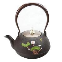 1.2L South Japanese Kung Fu Tea Pot Cast Iron Lutos Kettle Handpainted Teapot Creative Drinkware