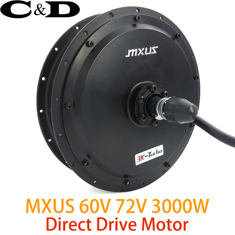 60V 72V 3000W High Speed Brushless Hub Motor electric bike Motor Rear Wheel Drive MXUS XF40 45H 3K Turbo drone helipad