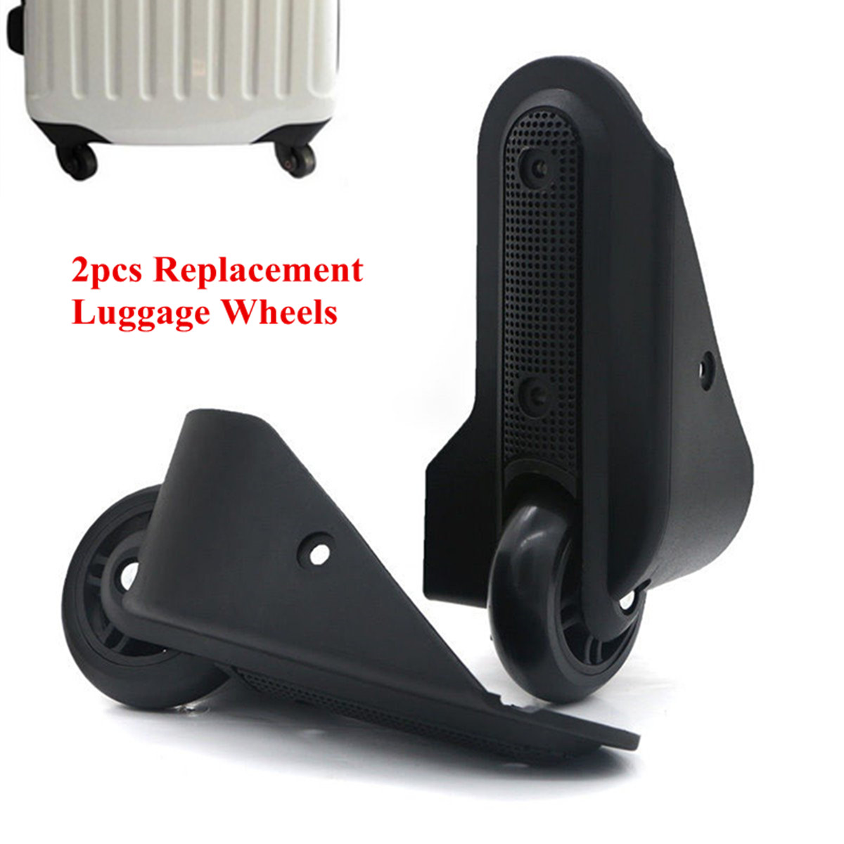 1 Pair Repair Trolley Wheels Replacement Luggage Wheels Travel Trolley Suitcase Wheels Travel Luggage Left & Right Wheels
