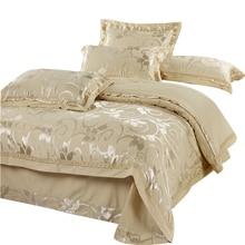 Роскошные Шелковое постельное белье набор 4 шт. постельное белье постельное белье королевы кровать Одеяло пододеяльник устанавливает постельное белье хлопковое покрывало