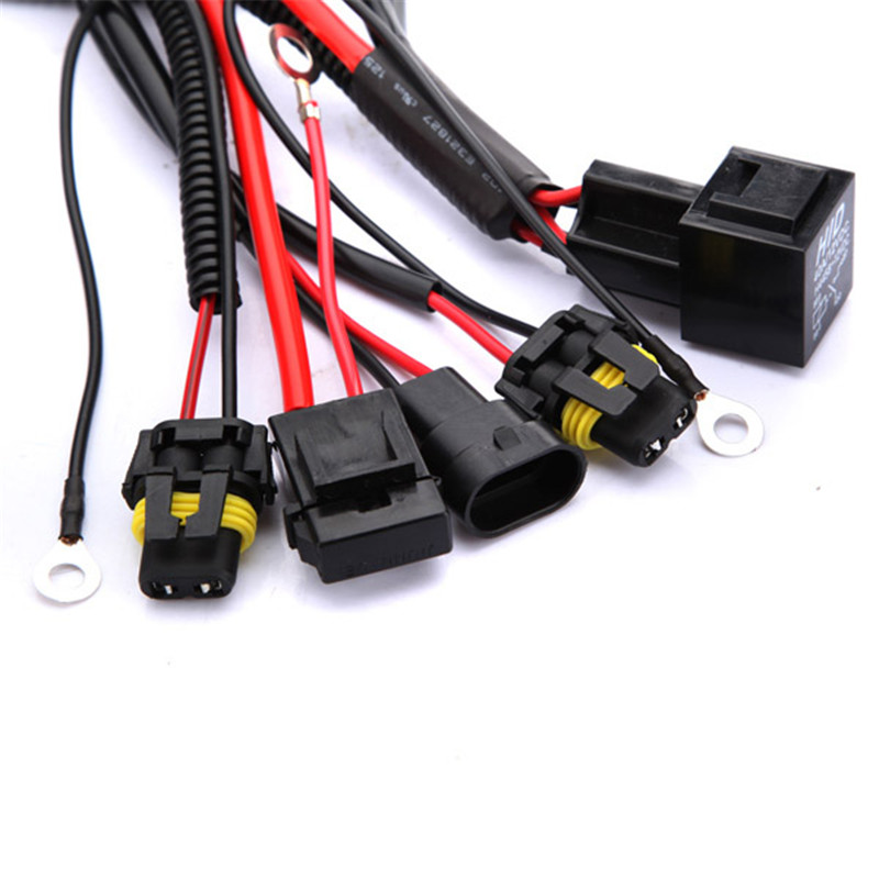 9005 9006 H1 H3 H7 H8 H9 H11 Relay Harness Wire Xenon Light Controller Socket Adapter aliexpress com buy 9005 9006 h1 h3 h7 h8 h9 h11 relay harness Wiring Harness Connector Plugs at cos-gaming.co