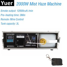 цена на 2000W Stage Mist Haze Machine Fog Machine With DMX Control Flight Case Package 3L Smoke Machine Stage Lighting Effect Dj Club