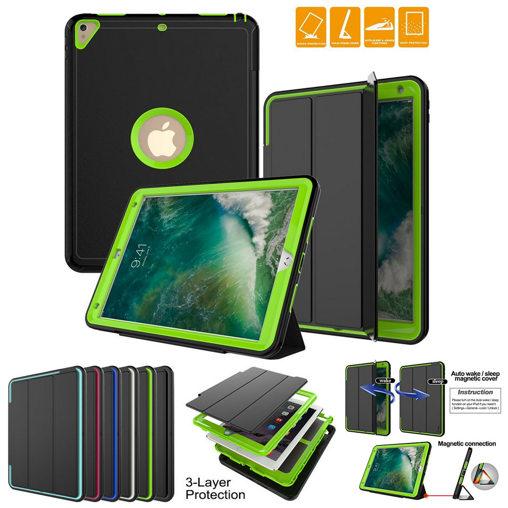 Shockproof Heavy Duty Flip Stand Cover For iPad Pro 12.9 Case TPU Silicon Protective Shell Tablet Fundas For iPad Pro 9.7