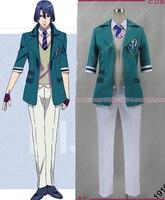 Anime Uta nessun Principe-Sama Nanami HIjirikawa Masato Cosplay Costume Blu Bianco Uniforme