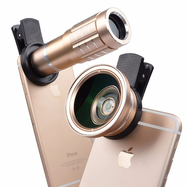 8c13dafa83e5a1 Lisheng New Universal 0.45X HD Wide Angle Macro lens + 12x telephoto lens  For iPhone