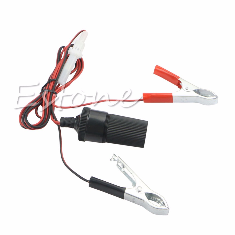 12V Car Battery Terminal Clip-on Cigarette Lighter Power Socket Adapter Adaptor