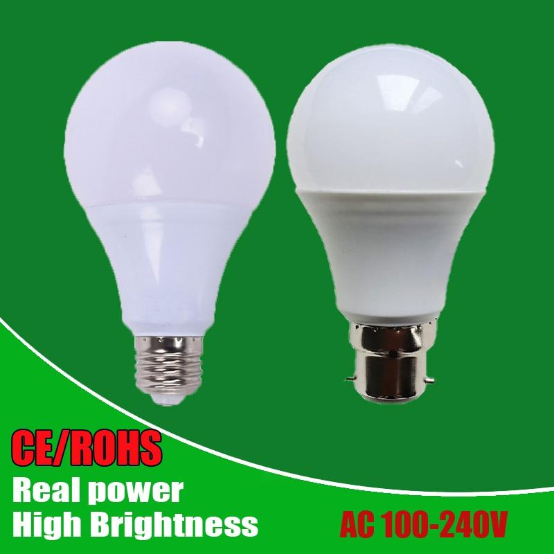 Wholesale Led Bulbs SMD2835 E27 B22 3W 5W 7W 9W 12W 15W 18W LED Lamps 110V 220V 240V Light Bulb For Home Led Spotlight Lamps