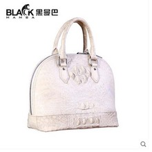 heimanba Crocodile bag female shell bag of Himalayan white genuine leather handbag Thai alligator skin bag