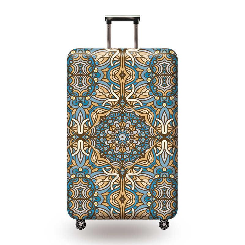 Защитный чехол для чемодана с классическим рисунком, эластичные Защитные чехлы для чемоданов, аксессуары для путешествий, чехол для чемоданов от пыли для 18-32 дюймов
