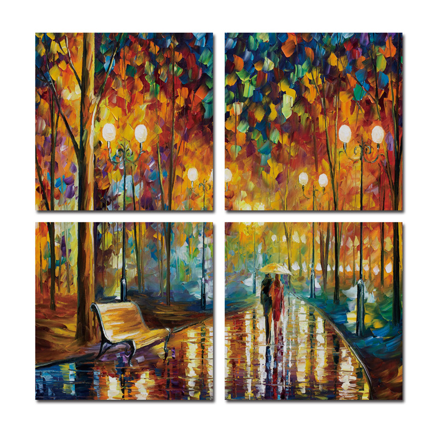 Walking couples canvas printings for living room wall for Toile pour jardin