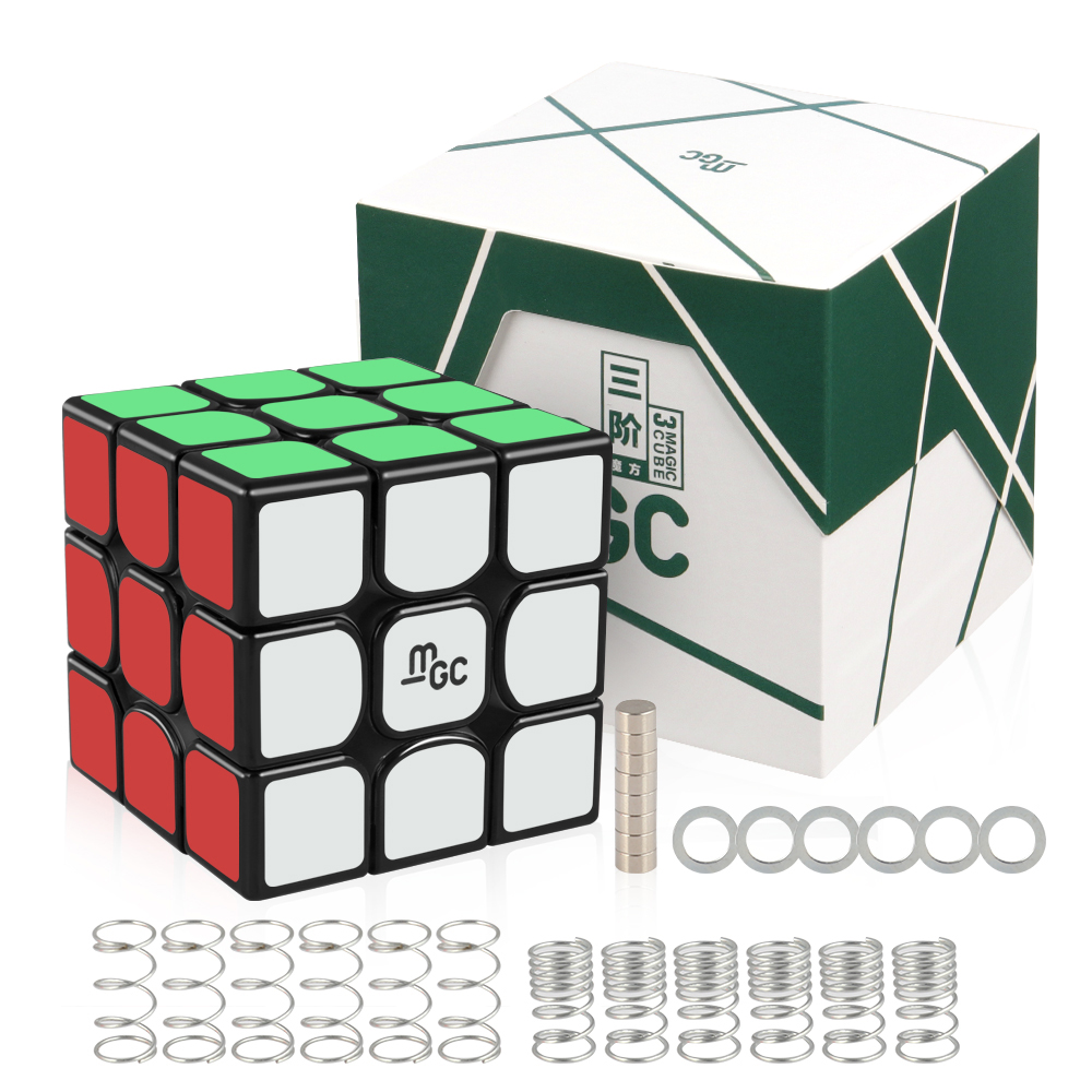 D-FantiX Yj MGC 3x3x3  Magic Cube Magnetic 3x3 Speed Cubes Puzzle Toys Black