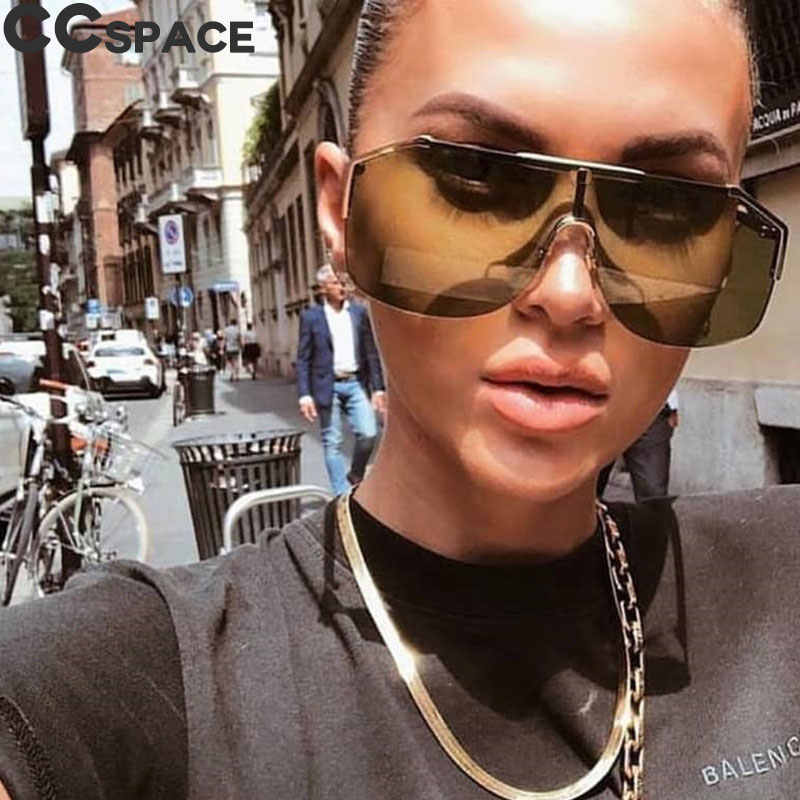 7f1e7ef117 Goggle One Lens Sunglasses Men Women Fashion Gradient Shades UV400 Vintage  Glasses Oculos 46433