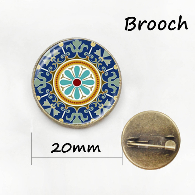 Exquisite Classic Brooches Star Of Life Picture Pin Novelty Interesting Word Chart Badge Women Yoga Mandala