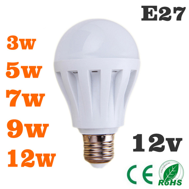 led bulbs 3w5w7w9w12w led light bulb dc 12v e27 12 volt led de luz wat lamp bulb to led bedroom. Black Bedroom Furniture Sets. Home Design Ideas