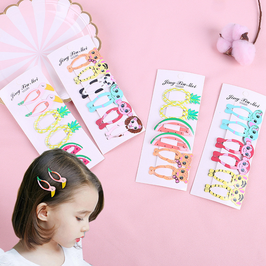 Kids Infant Baby Girls Cartoon Fruit Hairclip Hairpin Barrettes Headwear Set Baby Hairclips