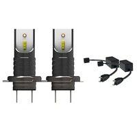 2Pcs H7 110W LED Headlight Bulbs Kit Car Lamp Chip 6000K H7 Canbus Decoder Error Free Anti flicker Warning Canceller Decoders