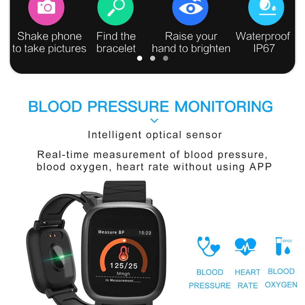 Bluetooth Digital Watch sport Fitness Tracker heart rate monitor For IOS iPhone 3