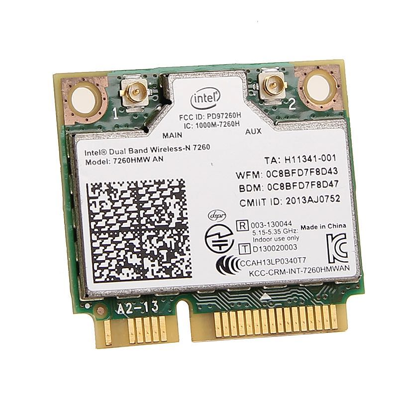 Image 2 - Dual band For Intel Wireless N 7260 7260HMW AN Half Mini Pci e 300Mbps Wireless Wifi + Bluetooth 4.0 Notebook Wlan card-in Network Cards from Computer & Office