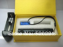 Wholesale AAA NEW Green Laser Pointer 2w 2000mw 532nm High-power Military LAZERA djustable Star Burn Matches Pop Balloons+Charger+GIFT Box