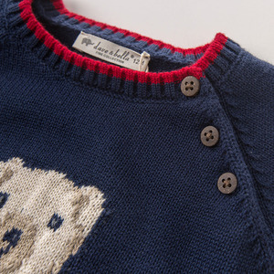Image 3 - DB5905 דייב bella סתיו תינוקות תינוק בני חיל הים דוב בסוודרים סוודר ילדים יפה ילדי פעוט סרוג סוודר