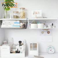 Probrico Bathroom Bedroom Study Room Kitchen Storage Shelf No Punch Seamless Iron Shelf Cabinet Storage Organizer