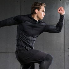 Fitness Compression Jacket Men Quick Dry Running Shirt Long Sleeves Hoodie Tshirt Fitness Clothing Bodybuild Crossfit T shirt