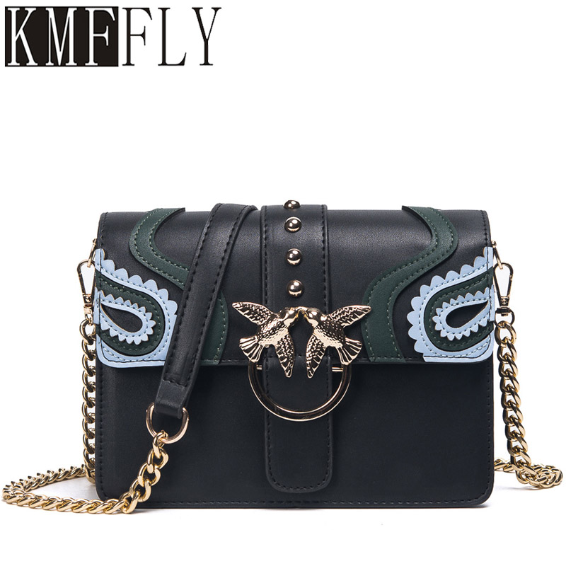 Fashion Engraved Women Bags High Quality Chain Messenger Packet Luxury Brand Shoulder Bags Small Square Package sac a main shoulder messenger mini candy bag small square package 2017 summer fashion handbags women messenger bags tide packet chain bag