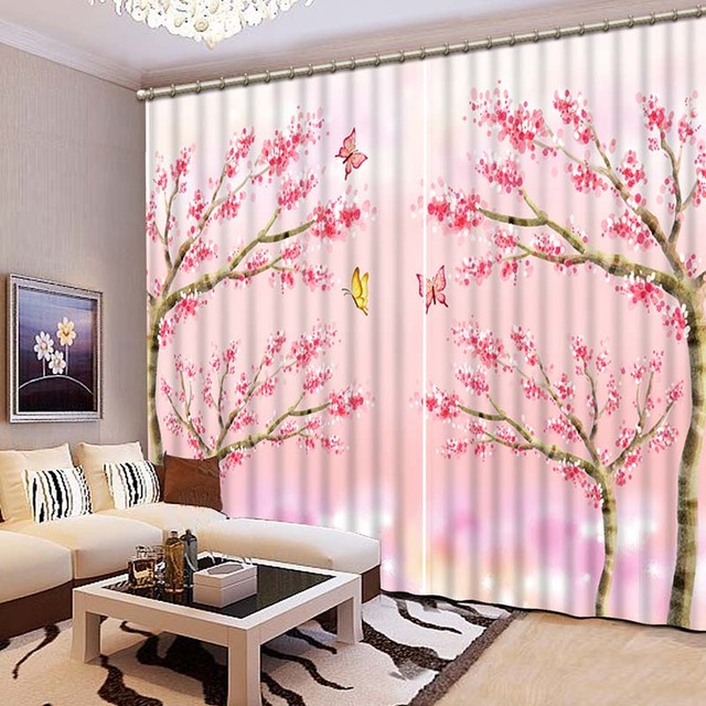 Advanced 3D Printing Curtains Beautiful Variety Of Lifelike HD Scenery 3D Curtains  Bedroom Living Room Window