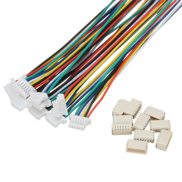 10 Pcs 6 Pin JST 150mm Pitch 1.0mm Male and Female Wire Connector ...