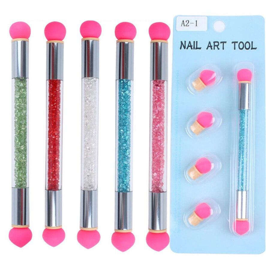 Nail Art Brush: Nail Art Brush 1Set Glitter Powder Picking Gradient Pen