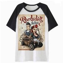 FASXXION Rockabilly t shirt cartoon kawaii harajuku tops femme women female  clothing fd0a4fb1698e