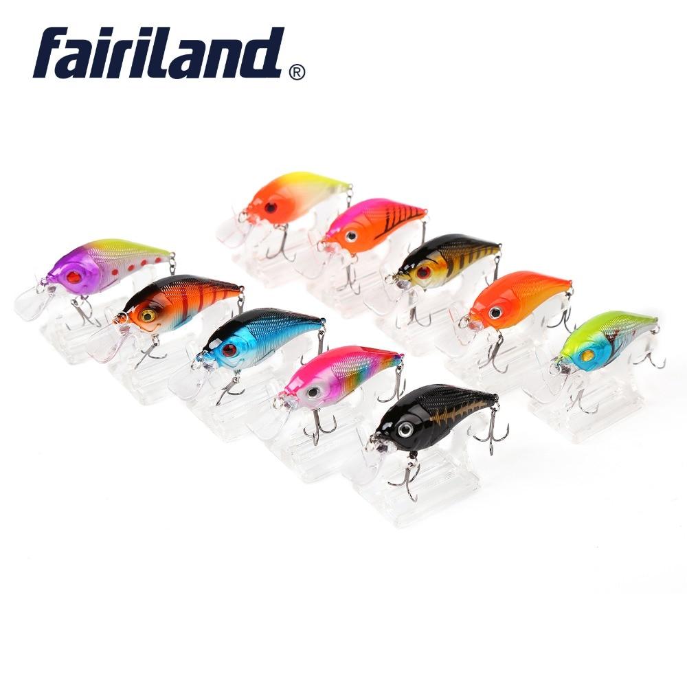 """10pcs/lot Mini Minnow Fishing Lure Bait 6cm/2.4"""" 11g/0.39oz Wobblers Minnow For Trout Pesca Bait 10 color Fishing Gear"""