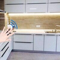 DC 12 в 1 м-5 м ручной волны ИК-датчик движения умные ночные светильники 60 Светодиодный s/M SMD 2835 диод светодиодный светильник под шкаф для кухни с...