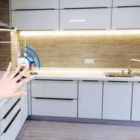 DC 12V 1M-5M Hand Wave IR Motion Sensor Smart Night Lights 60 LEDs/m SMD 2835 Diode LED Under Cabinet Light For Kitchen Bedroom