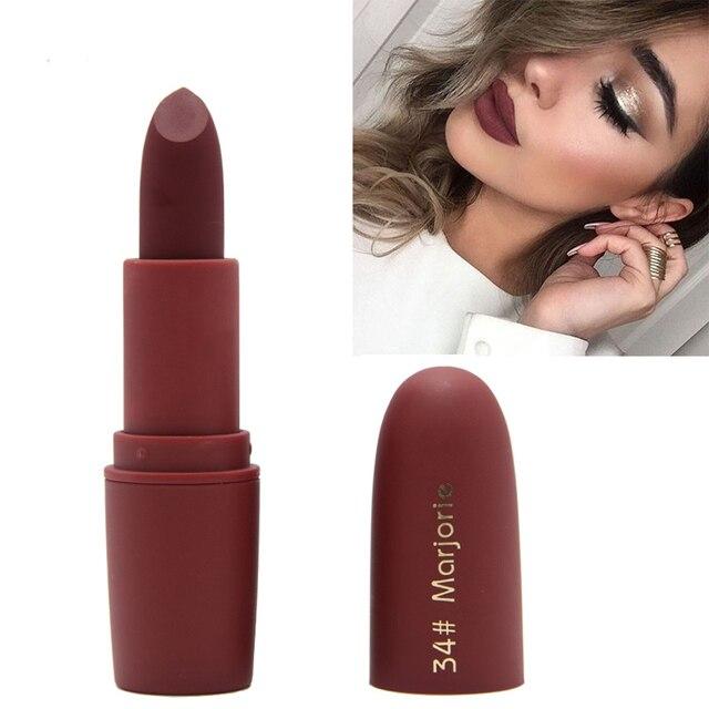 Miss Rose Brand Makeup Matte Lipstick Beauty  Moisturizing Lip Stick Waterproof Make up Mate Lipsticks Cosmetic