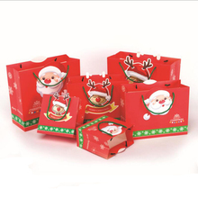 10pcs/lot Exquisite Holiday Paper Handbags Christmas Candy Gift Bag Merry Party Decoration Supplies