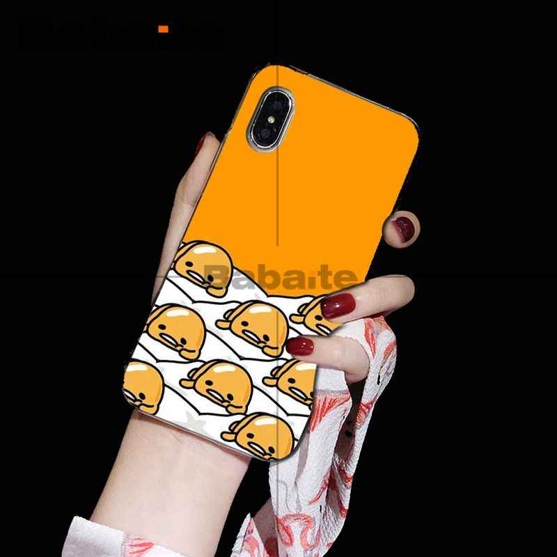 Babaite Cute Lovely Gudetama Lazy Egg Cover Transparent Soft Shell Phone Case For Iphone 5 5sx 6 7 7plus 8 8plus X Xs Max Xr