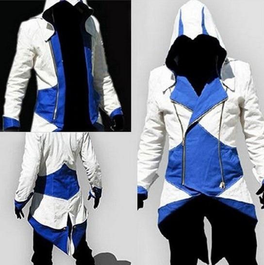 Assassins Creed Costume Cosplay Conner Kenway Hoodie Jacket Tracksuit Novelty Sweatshirt Hoody Plus Size Cloak Jacket Men  1