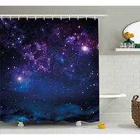 Vixm Space Shower Curtain Milky Way Themed Dark Matter with Star Field Light Years Sci Fi Travel Display Fabric Bath Curtains