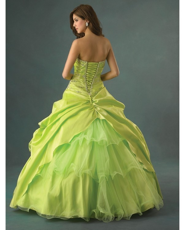7b3d950634a Cheap Quinceanera Ball Gowns Under 50 Sweetheart lime green quinceanera  dresses Stock size 2 4 6 8 10 12 14 16-in Quinceanera Dresses from Weddings    Events ...