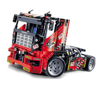 608 PCs 3360 Race Truck Car 2 In 1 Model Convertible Sets Of Building Blocks Of