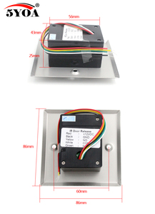 Image 5 - 5YOA Infrared Sensor Switch No Touch Contactless Door Release Exit Button with LED Indication