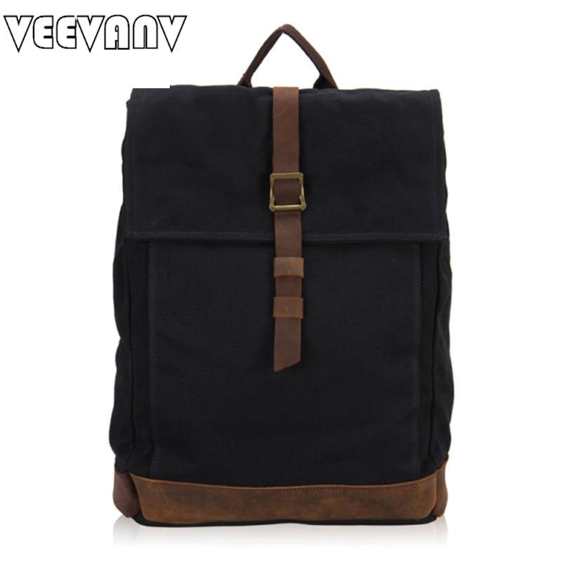 2017 VEEVANV Men s Backpacks Travel Large Capacity Canvas Backpacks Laptop School Shoulder Bags Mochila Men