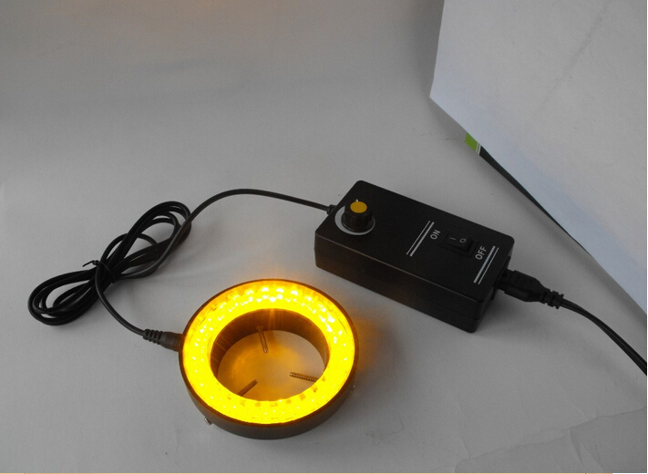 ФОТО Yellow Light 60 Led Lamps Stereo Biological Zoom Microscope Ring Lamp 110V-240V