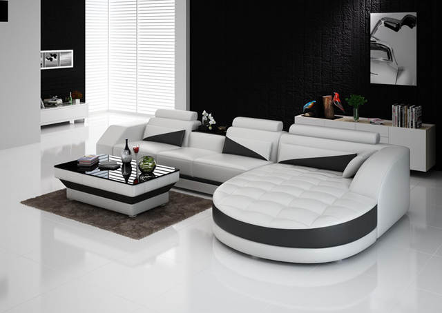 Leather Living Room Furniture Sectional