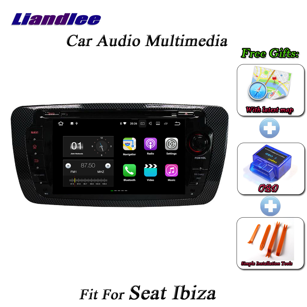 Liandlee Car Android System For Seat Ibiza 2013 Radio CD DVD Player GPS Nav Navi MAP Navigation HD Wifi FM BT Screen Multimedia