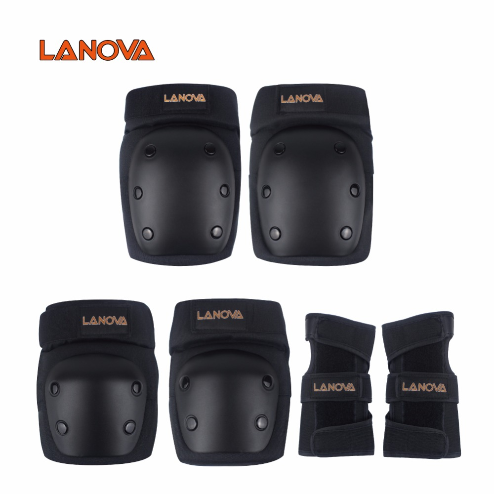 LANOVA Adult/Child Knee Pads Elbow Pads Wrist Guards 3 In1 protective gear Set For Multi Sports Skateboarding Inline Roller S